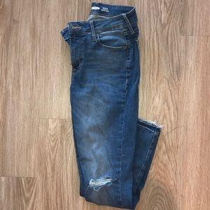 Ankle length super skinny jeans